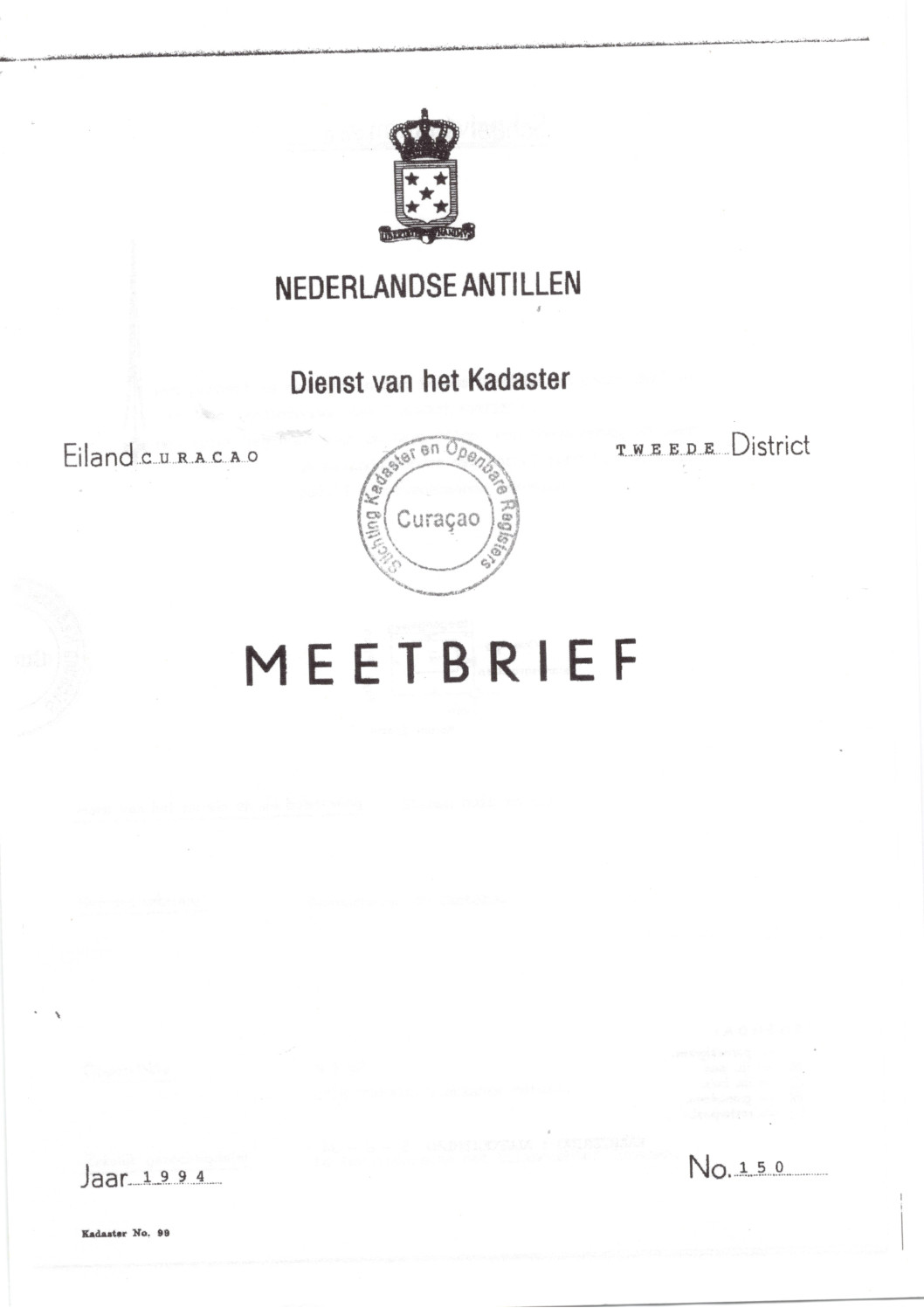 Kaya Pilon 17 meetbrief 150:1994